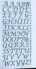 Self Adhesive Stick On Alphabets Glitter Stylus Letters Stickers Embellishments