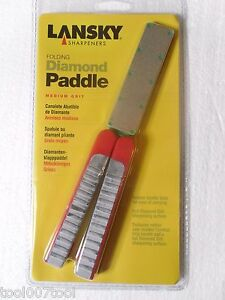 LANSKY MEDIUM GRIT Folding Diamond Paddle Sharpener, LDFPM LAST 2!