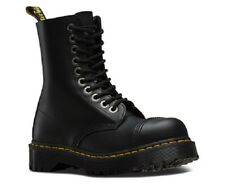 NEW Mens US Size 13 Doc DR MARTENS 10966 Fashion Steel Toe Black Leather Boot