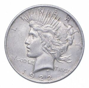 Early - 1922 Peace Silver Dollar - 90% US Coin *306