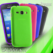 Matte Gel Case For Samsung Galaxy ACE 3 + Screen Guard TPU Jelly Soft Cover