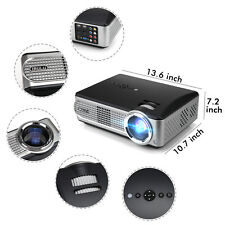 iRULU P4 HD Projector 1080P LED HDMI TFT LCD Video Home Theater with TV Turner