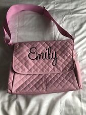 Pink Personalized Diaper Bag With Changing Pad For Baby Girl Emily