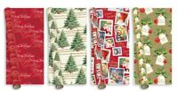 Giftmaker Collection 5m Elegant & Traditional Christmas Gift Wrapping Paper Roll