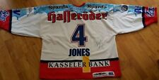 Kassel Huskies game worn Jersey Saison 03-04 Sebastian Jones  # 4 mit Autogramm