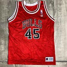 Vintage Michael Jordan Chicago Bulls #45 NBA Champion Red Jersey Youth XL