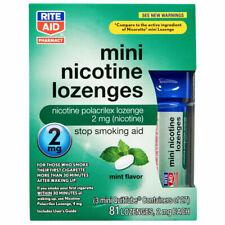 Nicotine Lozenges 2mg, 81 Mini Lozenges Mint by Rite Aid, Exp. 12/20