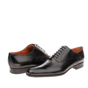 RRP €820 SANTONI Leather Oxford  Shoes EU46 UK10.5 US11.5 Polished Made in Italy