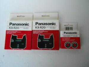 (2) Panasonic KX-R20 Print Ribbon Cassettes & (1) KX-R30 2-Pack Correction Tape
