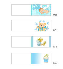 n.50 Bigliettini BATTESIMO per confetti e bomboniere, personalizzati, pieghevoli
