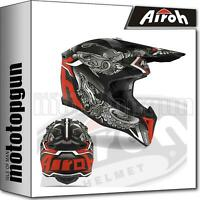 AIROH WROC35 INTEGRALHELME OFF-ROAD MOTORRAD MATT WRAAP OCTOPUS XS