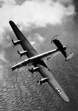 WWII Photo B-24  Liberator Bomber in Flight  WW2 / 5036