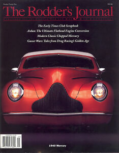 No. 25 Newsstand Cover B 1940 Mercury RODDERS JOURNAL