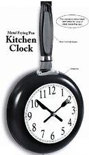 Metal Frying Pan Kitchen Clock (Black)