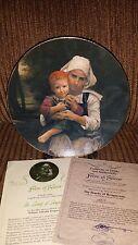 Beauty of Bouguereau, FRERE et SOEUR collectible plate #3 of 6, 23k GOLD rim