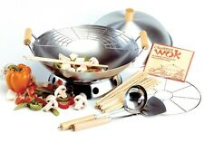 "Norpro 506 14"" Wok 10 Piece Set Use For Stir Frying Steaming Deep frying"