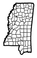 Mississippi State Map Patch