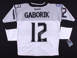 Marian Gaborik Signed Kings Jersey (PSA COA)