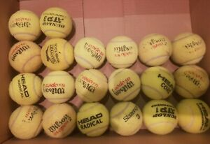 20 used tennis balls- branded, for play, dog balls, beach cricket - good bounce
