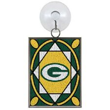 Green Bay Packers Stained Glass Christmas Tree Ornament NEW Sun Catcher