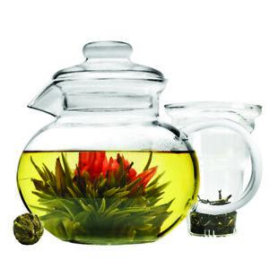 Primula  Blossom  Teapot  40 oz. Glass