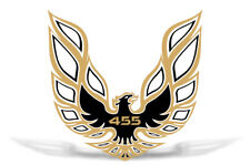 """42"""" X 42"""" Firebird Hood Graphic Decal Sticker For Pontiac Trans Am GOLD BLK 455"""