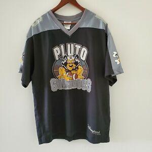 Disneyland Resort Pluto K9 Guard Dogs Football Hockey Jersey Shirt Mens L