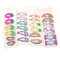 6pcs Fashion Cute Girls Hair Clips Snaps Hairpin Baby Kids Hair Bow Accessories