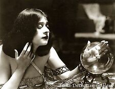 A Sultry Fortune Teller with A Crystal Ball - 1920s - Historic Photo Print