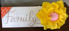 "NEW Hallmark ""FAMILY"" Blooming Flower Gift Plaque, Love, Birthday gift FREE SHIP"