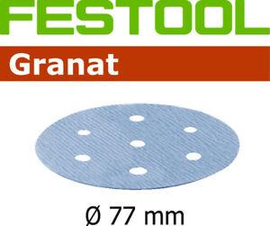 Festool 50x Garnet 77mm Meules Scratch 6 Trou P800 - P1500 Pour Lex 3 77