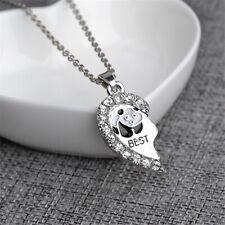 Pendants Necklace Friendship Jewelry shan 2Pcs Best Friend Heart Shaped Panda