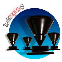 8 x ABSORBER Set Noicekiller Dynavox Spikes schwarz BOXENFÜßE Lautsprecher