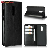 Luxury Genuine Leather Flip Wallet Stand Case Cover For Xiaomi Redmi 5 Plus