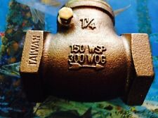 "Webstone 1-1/4"" Bronze Check Valve"