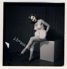 NUDE MODEL AT STUDIO / NACKTES MODELL Aktfoto * 60s SEUFERT Contact Print #2