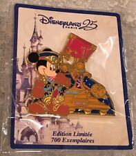Disneyland Paris 25th Anniversary Mickey Mouse Parade Pin LE 700 First In Series