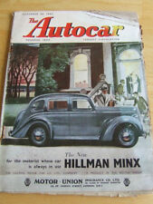 November Autocar Cars, Pre-1960 Transportation Magazines
