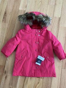 NeW Baby Gap Down Puffer Coat Winter Jacket Hood Girls Toddler 18-24 Months