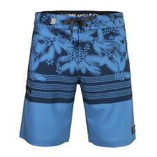 Men's Floral Beach Swimwear Swim Trunks Surf Stretch Board Shorts Blue Gift