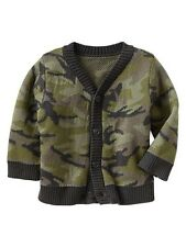 GAP Baby / Toddler Boy Size 12-18 Months NWT Camo Cardigan Button Down Sweater