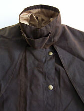 R.M. Williams JA901 Jacket Men's Small Brown Waxed Cotton Oilskin Vtg BBt098 #