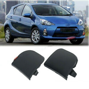 2PCS Front Bumper Tow Eye Hook Cover Caps For TOYOTA Prius 2012 2013 2014 2015