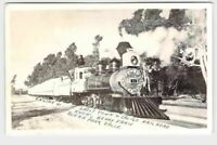 RPPC REAL PHOTO POSTCARD CALIFORNIA ENGINE 41 GHOST TOWN AND CALICO RAILROAD KNO