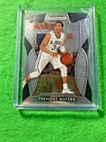 TREMONT WATERS SILVER CHROME ROOKIE CARD JERSEY#3 LSU TIGERS 2019 Prizm DP