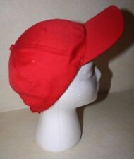 RED BASEBALL CAP - One size adjustable
