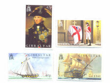 Gibraltar-Battle of Trafalgar set mnh-Nelson-Victory-mnh