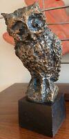 Sweet Vintage 60s 70s Owl Bird Sculpture Brutalist Mid Century Modern Art