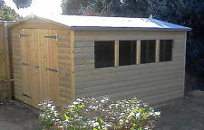 12x10 20mmTanalised Pressure Treated Loglap Garden Shed12ftx10ft Tanalised Shed