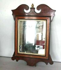 1800's Chippendale Georgian Mahogany Antique Looking Glass Wall Hall Mirror